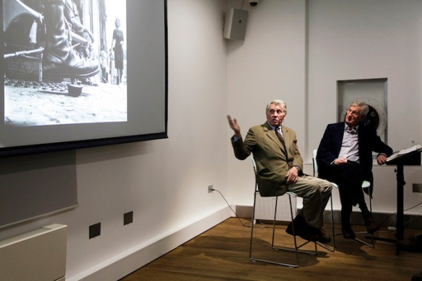 Don McCullin and Colin Ford at The Photographers' Gallery, London, 2013. Copyright Kate Elliott