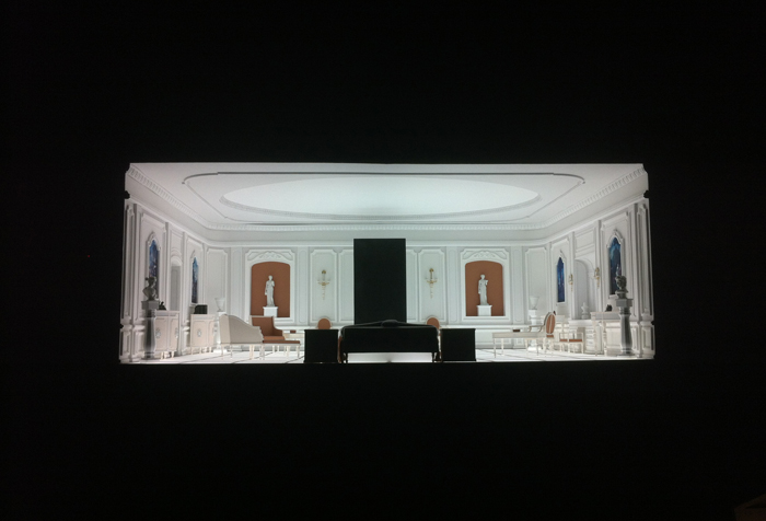Black Monolith in the Baroque Room production model, 2001: A Space Odyssey, 1968