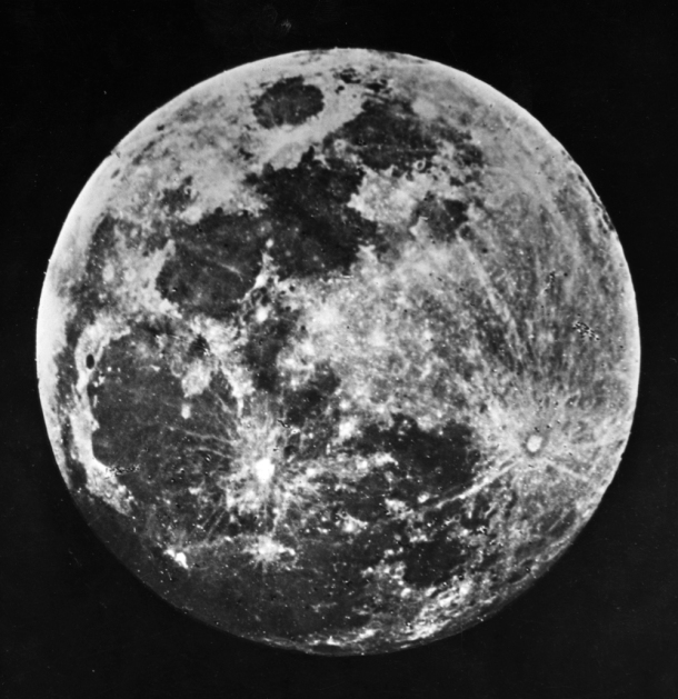 1840: One of the first ever pictures of the moon taken by Dr J W Draper of New York. (Photo by J. W. Draper/London Stereoscopic Company/Getty Images)